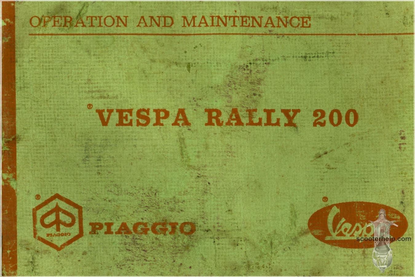 Vespa rally 200 manual.