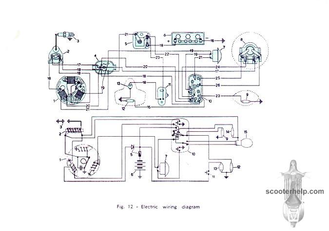 Vespa 150 owner's manual on wiring diagram vespa excel Electric Scooter Wiring Diagrams vespa wiring diagram p200e