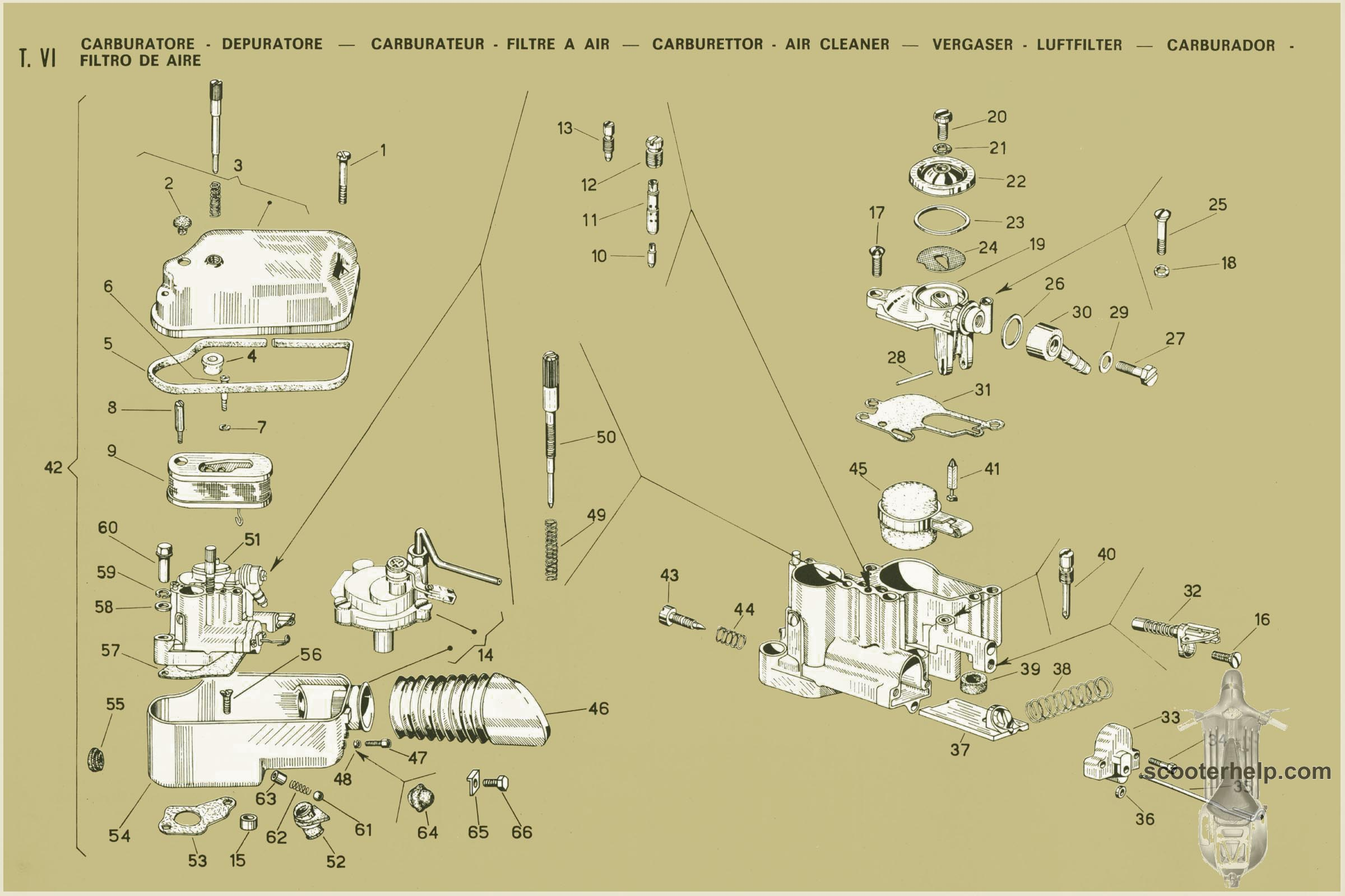 Vespa Px Carb Diagram 125 Wire Diagrams Wiring Modern Box Rubber Grommet Scooters Scooterhelp Com Manuals Vnx1t Vsx1t Parts Page038