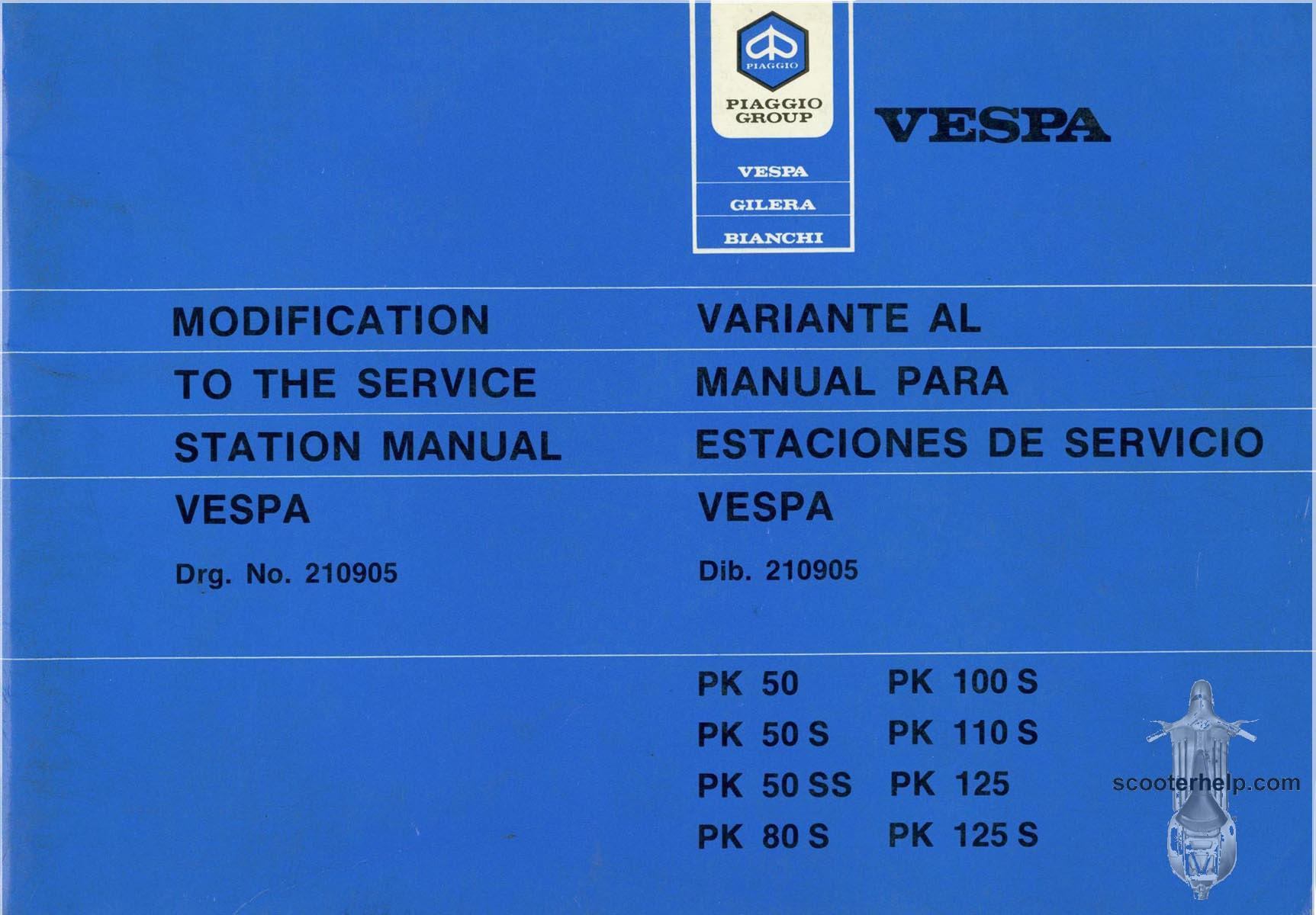 pk factory repair manual rh scooterhelp com service manual vespa primavera 125 service manual vespa lx 125